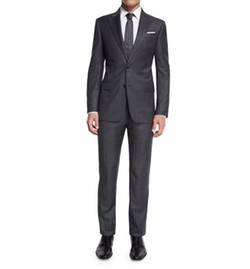 G-Line New Basic Sharkskin Wool Suit by Armani Collezioni in Empire