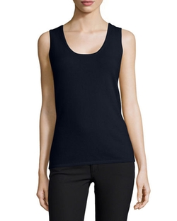 Scoop-Neck Tank Top by Neiman Marcus Cashmere Collection in Fuller House