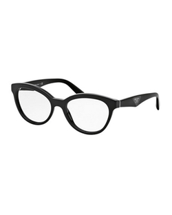 Cat-Eye Contrast-Arm Fashion Glasses by Prada  in Supergirl
