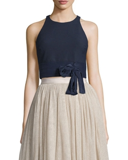 Eniko Sleeveless Crop Top by Elizabeth and James in Mistresses