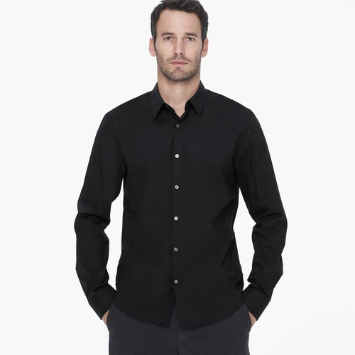 Matte Stretch Poplin Dress Shirt by James Perse in John Wick
