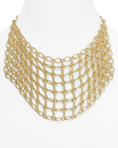 Chain Mesh Bib Necklace by Catherine Stein in American Horror Story - Season 5 Episode 3