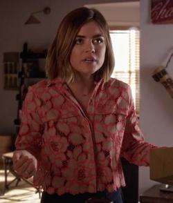 'Adagio' Button Down Lace Shirt by Paul & Joe Sister in Pretty Little Liars