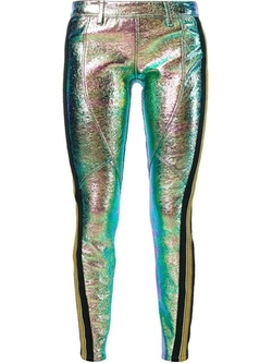 Iridescent Skinny Trousers by Faith Connexion in Empire