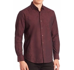 Weylin Textured Button-Down Shirt by Robert Graham in Scream Queens