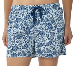 Women's Cotton Poplin Pajama Lounge Boxer Shorts by Leisureland in Sisters