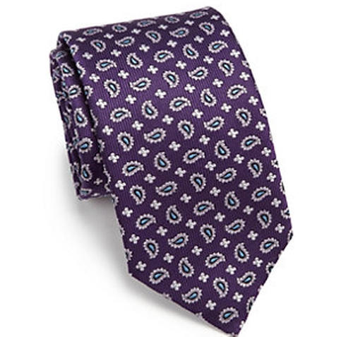 Paisley Silk Tie by Eton of Sweden in Ballers - Season 2 Episode 1