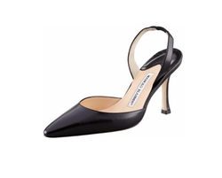Kidskin High-Heel Halter Pumps by Manolo Blahnik in Suits