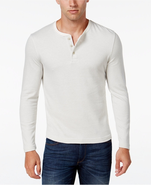 Men's Long Sleeve Henley Shirt by Club Room in Jack Reacher