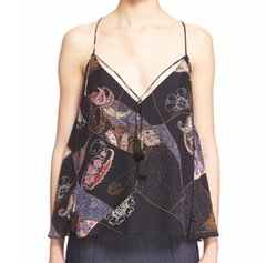 Luella Patchwork Print Silk Tank Top by Elizabeth And James in Modern Family