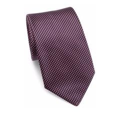 Micro-Printed Silk Tie by Armani Collezioni in Suits