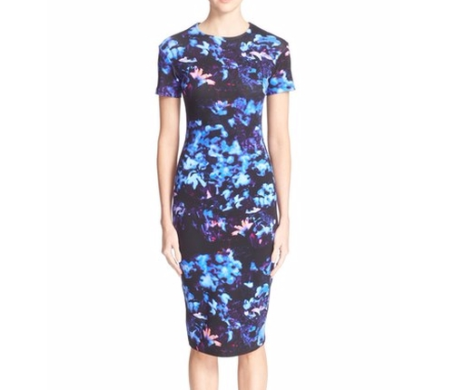 Floral Print Body-Con Dress by McQ by Alexander McQueen in Mistresses