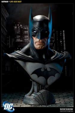 DC Comics Batman Bust Statue by Sideshow in The Big Bang Theory