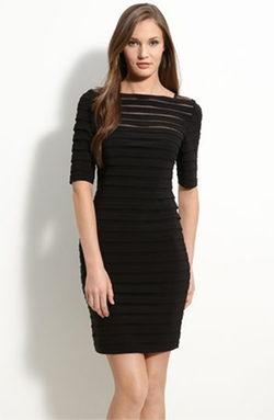 Pleated Illusion Sheath Dress by Adrianna Papell  in Pretty Little Liars