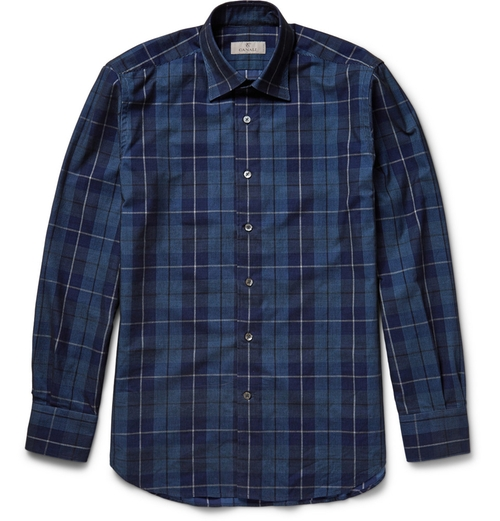 Checked Fine-Wale Cotton-Corduroy Shirt by Canali in Modern Family - Season 7 Episode 4