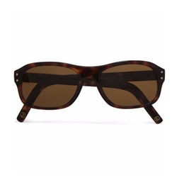 Square-Frame Tortoiseshell Acetate Sunglasses by Kingsman + Cutler And Gross in Kingsman: The Golden Circle