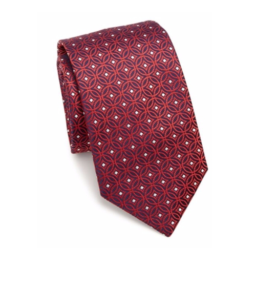 Circle Pattern Silk Tie by Eton of Sweden in Suits - Season 6 Episode 10
