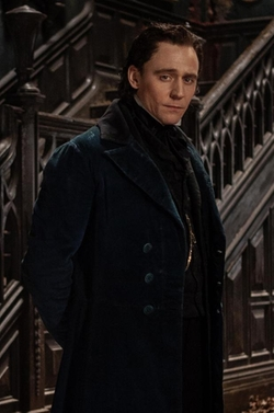 Custom Made Contrast Collar Velvet Overcoat by Kate Hawley (Costume Designer) in Crimson Peak