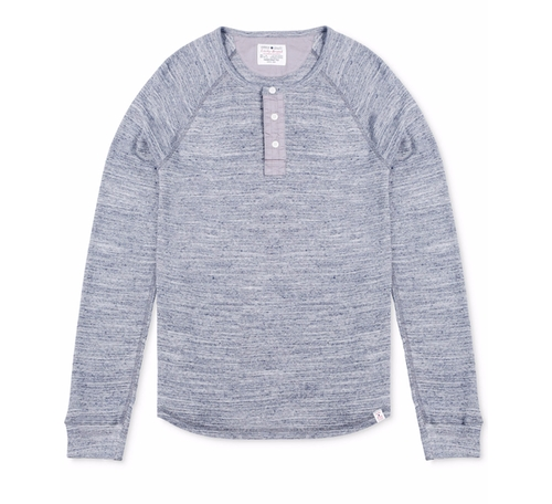 Men's Thermal Henley Shirt by Lucky Brand in Blair Witch