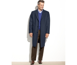 Signature Wool-Blend Overcoat by London Fog in Victor Frankenstein