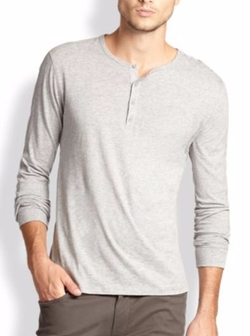 Long-Sleeve Jersey Henley Shirt by Vince  in Pretty Little Liars