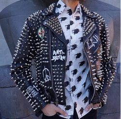 Studded Leather Jacket by Enfants Riches Deprimes in Keeping Up With The Kardashians