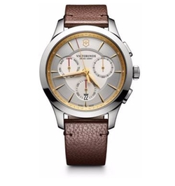 Stainless Steel Chronograph Leather Strap Watch by Victorinox Swiss Army in Jane the Virgin