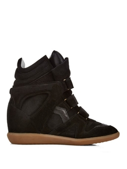 Isabel Marant ÉToile Beckett High-Top Suede Wedge Sneakers