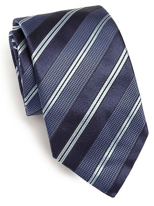 Textured Striped Tie by Eton Of Sweden in Scandal - Season 5 Episode 8