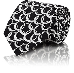 Interlocking-Circle Jacquard Necktie by Fairfax in Eddie The Eagle