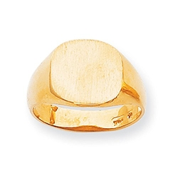 Men's Rounded Square Signet Ring by Kevin Jewelers in Gold