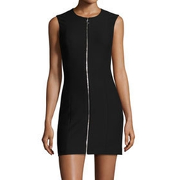 Susannah Sleeveless Full-Zip Bodycon Mini Dress by Elizabeth and James in New Girl