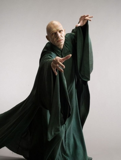 Custom Made Lord Voldemort Drape Robe by Jany Temime (Costume Designer) in Harry Potter and the Deathly Hallows: Part 2