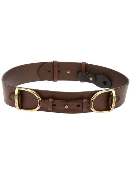 Horse Buckle Belt by Ralph Lauren Blue in Scandal
