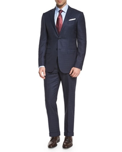 Milano Plaid Two-Piece Wool Suit by Ermenegildo Zegna in Suits