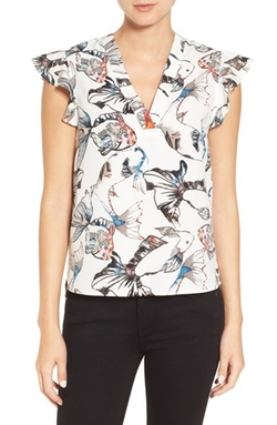 'Larisa' Print Blouse by Cooper & Ella in Crazy Ex-Girlfriend
