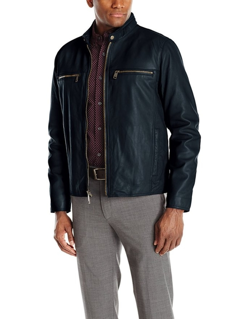 Lamb-Leather Moto Jacket by Andrew Marc in Jessica Jones - Season 1 Episode 6