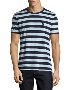 Striped Cotton Jersey T-Shirt by Burberry in Mr. Robot