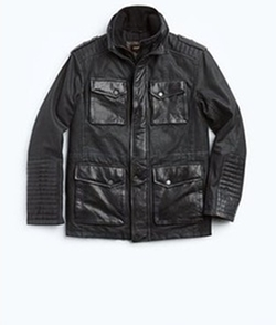 Beckham Denim and Leather Field Jacket by Danier in Arrow