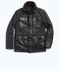 Beckham Denim and Leather Field Jacket by Danier in Arrow