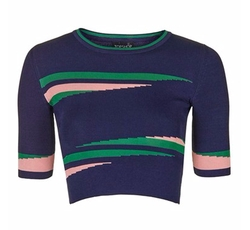 Eraser Stripe Crop Top by Topshop in Supergirl