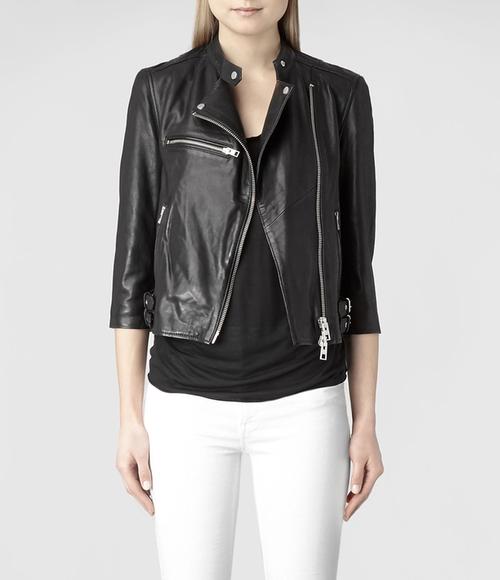 Turne Leather Biker Jacket by All Saints in Modern Family - Season 7 Episode 21