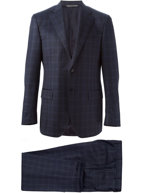 Two-Piece Check Suit by Canali in Suits - Season 5 Episode 8