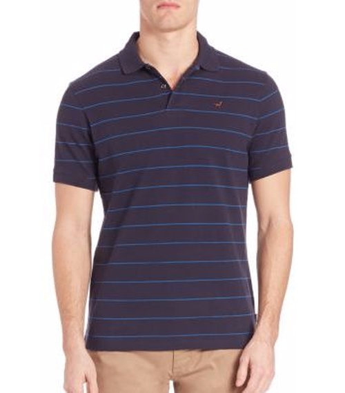 Lawrence Cotton Pique Polo Shirt by Barbour in Joshy