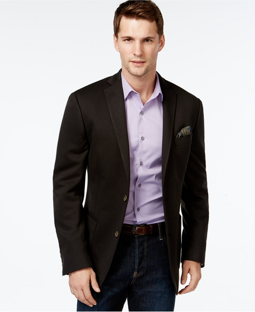 Slim-Fit Solid-Knit Sport Coat by Tallia  in (500) Days of Summer