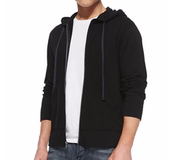Cotton-Knit Zip Hoodie by James Perse in The Fate of the Furious
