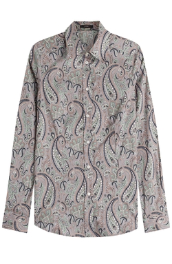 Printed Cotton Shirt by Etro in The Big Bang Theory