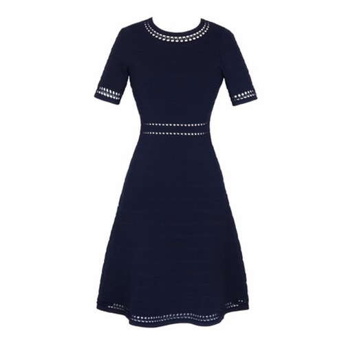 Riley Fit And Flare Dress by Sandro in The Boss