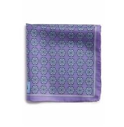 Medallion Silk Pocket Square by Robert Talbott in The Boss