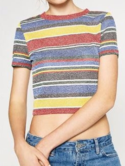Striped Crop Top by Zara in Scream Queens